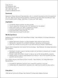 Best Team Lead Resume Example by Professional College Admissions Representative Templates To