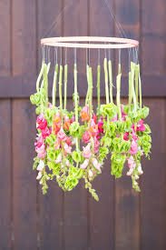 Making Chandeliers At Home Diy Hanging Flower Chandelier The Sweetest Occasion