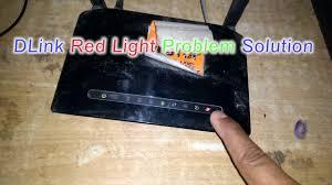 red internet light on modem dlink router red light problem solution easy solution youtube