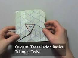 Origami Tessalation - origami tessellation basics triangle twist