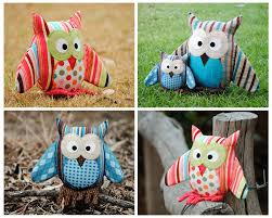 sewing patterns home decor owl pattern pdf sewing pattern for owl soft toy cushion pillow