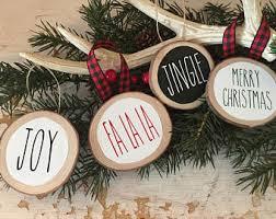 farmhouse ornaments etsy