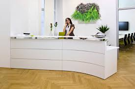 How To Make A Reception Desk Make A Statement With Your Reception Area Livewall Green Wall System
