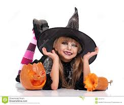 Girls Pumpkin Halloween Costume Halloween Costume Stock Photo Image 33159110
