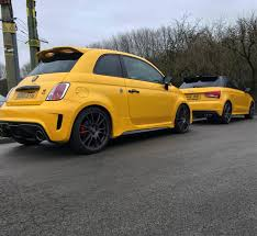 audi s1 and abarth 695 biposto owners compare their yellow cars