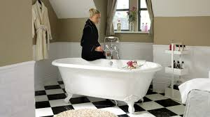 bathtub with legs oval composite cheshire