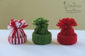 yarn hat ornaments family crafts