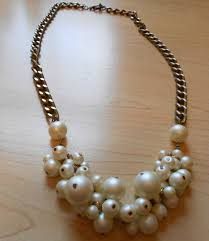 pearls necklace making images Pearl cluster chain necklace jpg