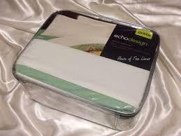 echo jaipur queen sheet set white light green