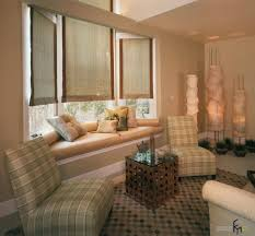 finishing the interior décor with cool window treatment as the