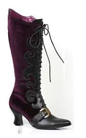Dancer Halloween Costume Purple Velvet Burlesque Dancer Halloween Costume Boots
