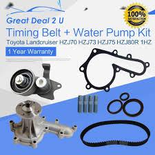 timing belt water pump kit tensioner toyota landcruiser hzj75