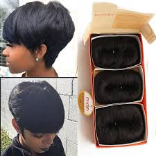cute hairstyles with remy bump it hair free shipping 27 pieces short hair weave with free closure 27