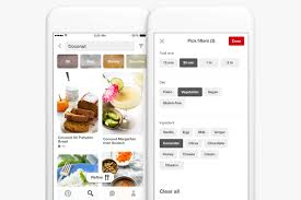 pinterest app update introduces food focused features