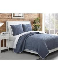 bargains on american home chambray plaid 3 piece quilt king