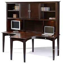 T Shaped Desk T Shaped Desk E2 Class Dual T Shaped Desk Hutch In Java Finish