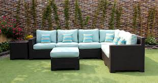 Wicker Patio Furniture Calgary - provence outdoor patio wicker sunbrella spectrum mist l shaped
