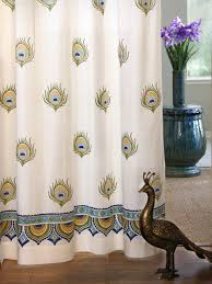 Peacock Curtains India Curtain Panel Peacock Saffron Marigold