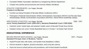 Sample Basketball Coach Resume by College Coaching Resume Samples