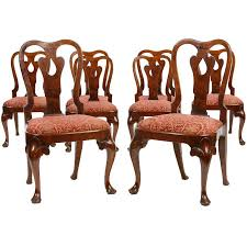 Queen Anne Armchair Set Of Eight Queen Anne Chairs For Sale At 1stdibs
