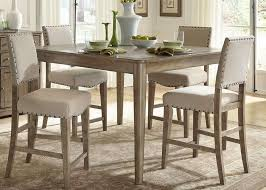 counter height gathering table buy liberty furniture weatherford 5 piece 54x54 square counter