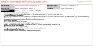 Janitor Sample Resume by Janitor Resume Duties