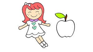 baby doli and fruit coloring pages for children kids learn how