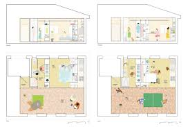 plans elevations all i own house by pkmn architectures madrid