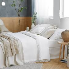 Cheap Cotton Bed Linen - lace trim percale cotton bed linen zara home united kingdom