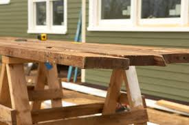 How To Build A Wooden Picnic Table by How To Build A Reclaimed Wood Office Desk How Tos Diy