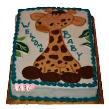 giraffe baby shower cake 1161 giraffe theme welcome baby shower cake abc cake shop bakery