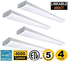 linkable led shop lights 48w linkable led wraparound light 4ft led shop light for garage