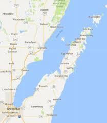 Map Of Door County Wi Kathy Visits Door County Michigan Page One