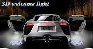 kia led car door lights neon logo
