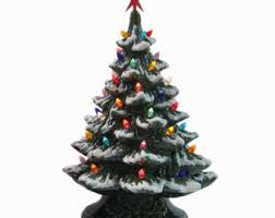 winter white ceramic tree clear lights large 18 inch