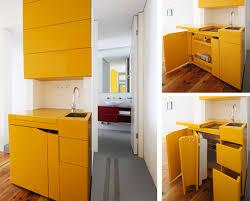 küche gelb extrem kleine küche gelb zum platzsparen in kleinen wohnungen