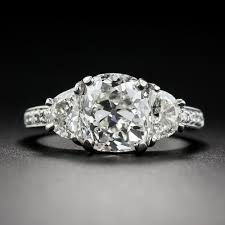 cushion diamond ring 3 03 carat antique cushion diamond vintage style engagement ring