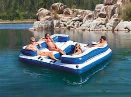 floating couch inflatable floating sofa lounge island raft seats couch sea