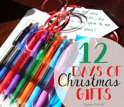 12 days of christmas gifts joyfully prudent