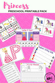 princess printable preschool education pack from abcs to acts