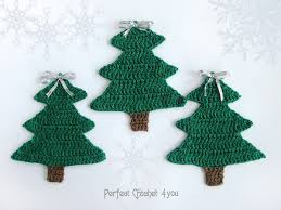 crochet tree decoration green tree