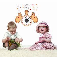 jeux de amoure dans la chambre 3 amour ours mur pâte calme horloge autocollant creative coloré diy