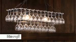 photo of diy glass chandelier wine glass rack chandelier