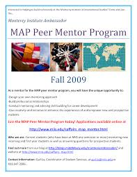 Map Program Monterey Institute Map Peer Mentor Program