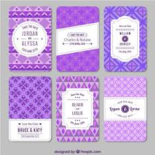 Wedding Invitations Purple Purple Geometric Wedding Invitations Vector Free Download