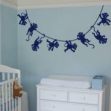 Nursery Monkey Wall Decals Monkey Wall Decals For Nursery Home Design Give A