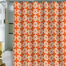 Orange Shower Curtains Kess Inhouse Carollynn Tice Explosion Orange Shower Curtain