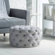 Roma Tufted Wingback Headboard Taupe Fullqueen by Grand Linen Upholstered Round Tufted Ottoman Round Tufted