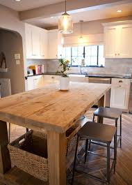 table island kitchen best 25 farmhouse kitchen island ideas on kitchen