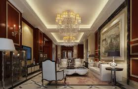 living room neoclassical style 3d house